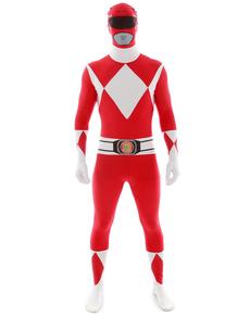 Fato de Power Ranger Vermelho Morphsuit