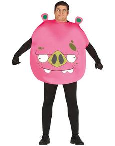 Fato de Porco Angry cor-de-rosa para adulto