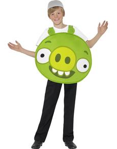 Fato de porquinho verde Angry verde para menino