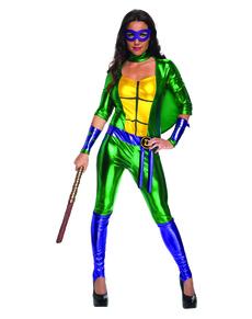 Fato de Donatello sexy das Tartarugas Ninja para mulher