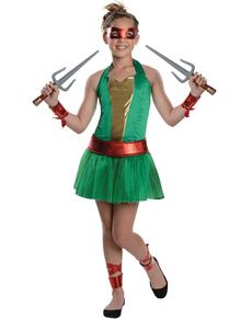 Fato de Raphael das Tartarugas Ninja para menina