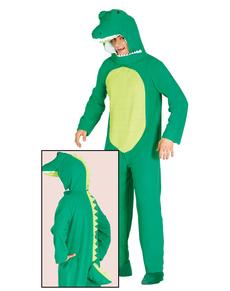 Fato de crocodilo do lago para adulto
